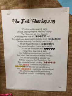 The First Thanksgiving Poem