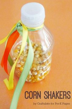 Thanksgiving Music Corn Shakers Activity