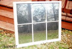 how to turn an old window into a mirror, diy, home decor, how to, painted furniture, repurposing upcycling, My new mirror