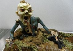 Extreme Halloween cake for zombie fans. this is a cake. Scary Halloween Cakes, Bolo Halloween, Terrifying Halloween, Halloween Horror, Spirit Halloween, Halloween Fun, Halloween Foods, Halloween Costumes, Samhain Halloween