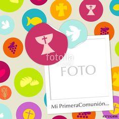 """Descargue el vector libre de derechos """"MI PRIMERA COMUNION"""" creado por rondabroc.com al precio más bajo en Fotolia.com. Explore nuestro económico banco de imágenes para encontrar el vector perfecto para sus proyectos de marketing."""