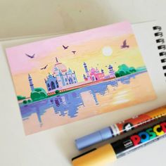 Posca Marker, Marker Art, Art Drawings Sketches Simple, Cool Drawings, Posca Art, Small Canvas Art, Arte Sketchbook, Guache, Pen Art