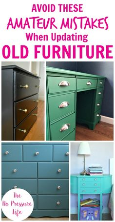 Love a good thrift store furniture makeover and want to learn how to update old furniture with paint? Then avoid these mistakes! Painting an old dresser, table, or headboard is a great DIY project for beginners, but if you want a great finish then you
