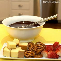The chocolate fondue I was going to make for New Year's Eve, but didn't because I didn't pin the recipe and lost it.  This is for next year!