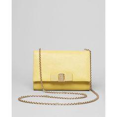Salvatore Ferragamo Mini Bag - Miss Vara Bow Clip ($595) ❤ liked on Polyvore