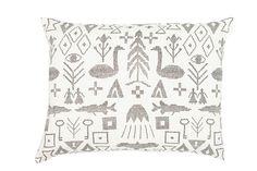 Image of Maailman synty interior pillow cover large | Maailman synty -tyynynpäällinen, iso