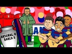 The Arsenal 0 Barcelona 2 song by 442oons