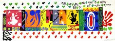 Henri Matisse, The Thousand and One Nights [Les Mille et une nuits], June 1950, gouache on paper, cut and pasted, 139 x 374 cm. Carnegie Museum of Art, Pittsburgh. From Carnegie Museum of Art, Pittsburgh.