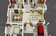 Breathtaking Small Carriage House Plans Photos Ideas Interiors Modern Garages Garage With Apartment Doors 30x50 House Plans, 3d House Plans, Modern House Floor Plans, Model House Plan, Indian House Plans, Narrow Lot House Plans, House Plans With Photos, Home Design Floor Plans, Duplex House Plans