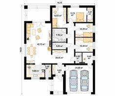 Decyma 6 projekt domu - Jesteśmy AUTOREM - DOMY w Stylu New House Plans, Home Projects, Planer, New Homes, The Sims, Sims 4, Floor Plans, Flooring, How To Plan