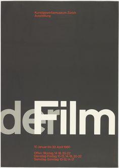 Poster, der Film [Film], 1959–60