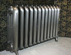 Unusual 3 column Curly Eared Princess radiator with a polished finish. This radiator has been fully restored and is ready to go. Old Radiators, Cast Iron Radiators, Keep Warm, Furniture Decor, Restoration, Old Things, It Is Finished, Curly