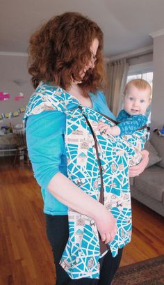 Cute baby sling with Paris map print (cc @Kate Wheeler).