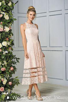c0b487110d2 B2 Tea Length Lace B193063 Bridesmaid Dress Tea Length Dresses