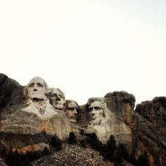 Mount Rushmore National Memorial is a sculpture carved into the granite face of Mount Rushmore near Keystone, South Dakota. US presidents Washington, Jefferson, Roosevelt and Lincoln.  Go to www.YourTravelVideos.com or just click on photo for home videos and much more on sites like this.