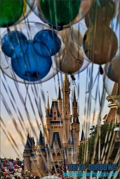 Cinderella Castle with Mickey Balloons #disneyparks #disneyworld #disneyland #disneyvacation #disneyparkphotography #disneyphoto
