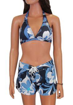 KEAKIA Mens Aloha Hawaiian Camouflage Pattern Beach Board Shorts Quick Dry Swim Trunk