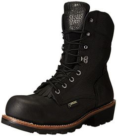 "Wolverine Men's Buckeye Non-Insulated EAA Safety-Toe 8""   Logger Work Boot, Black, 10 M US"