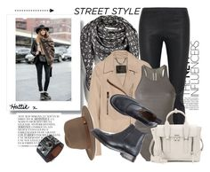 """Street Style - Get The Look"" by hattie4palmerstone ❤ liked on Polyvore featuring Louis Vuitton, By Zoé, Rick Owens, Belstaff, 3.1 Phillip Lim, rag & bone, Toast and Hermès"