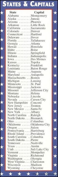States & Capitals/Presidents Bookmark | Additional photo (inside page)