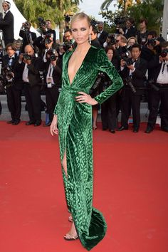Natasha Poly in Gucci | Fashion| The L'Oréal Paris brand ambassador wore emerald-green Gucci Fall/Winter 2012-2013 to walk the red carpet for Madagascar 3: Europe's Most Wanted in Cannes