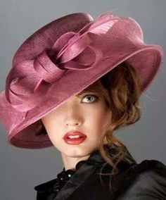 3H, straw rose pink hat with bow