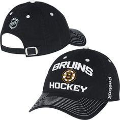 309d1d06a Mens Boston Bruins Reebok Black Locker Room Slouch Adjustable Hat. Chicago  Blackhawks, Nhl ...