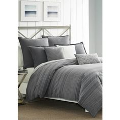 nautica gray bluffton king comforter set 230 liked on polyvore featuring home