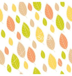 Ornamental seamless pattern with leaves vector  by saenal78 on VectorStock®