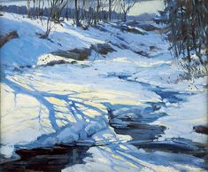 """""""Shadow on the Snow,"""" Henry B. Snell, oil on canvas, 20 x W. 24"""", collection of Marguerite and Gerry Lenfest."""