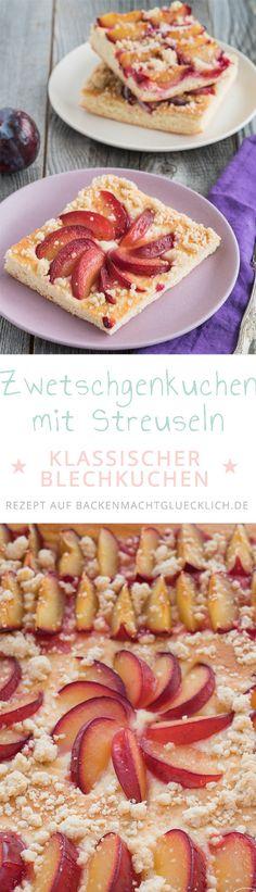 Pflaumenkuchen mit Streuseln: Beliebter Herbst-Klassiker mit lockerem Hefeteig, vielen Pflaumen bzw. Zwetschgen und als Topping knusprige Zimtstreusel. Zwetschgenkuchen schmeckt immer wieder gut!