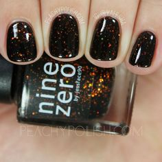 Nine Zero Lacquer: Halloween 2016 Collection + October 2016 Polish Of The Month Swatches & Review