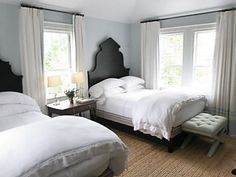 GORGEOUS headboards. love the whole room!