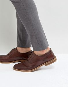 Find the best selection of ASOS Oxford Brogue Shoes In Brown Leather With Perforated Detail. Shop today with free delivery and returns (Ts&Cs apply) with ASOS! Trail Shoes Women, Women Oxford Shoes, Brown Brogues, Oxford Brogues, Brogues Womens, Black Knee Length Boots, Silver High Heel Shoes, Best Shoes For Men, Brown Shoes For Men