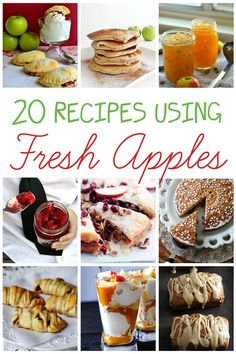 Lots of delicious fresh apple recipes for fall.  If you're going apple picking, keep these in mind!