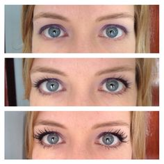 No mascara, Lise Watier, Younique 3D Fiber mascara. No comparison! Makeup makes a difference, get the right one!