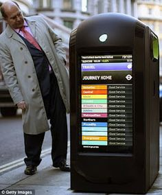London Deploys Digital Smart Bins Recycling Facts, Recycling Station, Recycling Information, Recycling Containers, Recycling Bins, Interactive Installation, Garbage Can, Trash Bins, Smart City