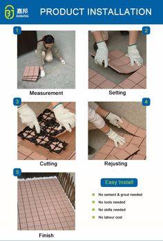 1 Inch Soundproof Customized DIY Antique Wedding White Marble Quartz Flooring Carpet Tiles Design for Sale