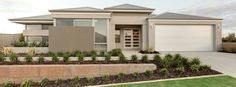 Honeywood by Ross North Homes — Single Storey Homes — New Homes Guidecolours House Exterior Color Schemes, House Paint Exterior, Exterior Paint Colors, Exterior Design, Paint Colours, Colorbond Roof, Rendered Houses, House Color Palettes, Villa