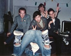 """The 1/2Fast Five, at the """"Habit of Decision"""" """"release"""" party at Nightbreak.  L to R: Junglebook, Johnny Loud, Jim  Hoadley, Dave Brian.  Inverted: Rich Ferguson"""