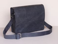 Black Medium Messenger Bag