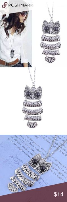 Silver Owl Pendant Necklace Chic and beautiful owl pendant necklace Jewelry Necklaces