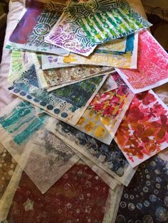 Gelli Addiction I'm totally addicted and CANNOT STOP. Then my Mom got me the BIG Gelli Plate for my birthday and I discovered deli paper and OH MY!!!! The Colloquial Times Blog