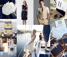Navy Blue and Khaki Nautical Wedding
