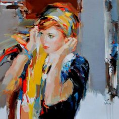 .'' OVER YOU '' #JOSEFKOTE #FINEART — with Nelly Vass in New York, New York.