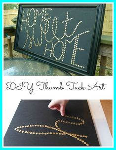 DIY Thumb Tack/PushPin Wall Art |Very inexpensive way to make some art - all you need is foam core and thumb tacks! DIY Saturday Featured Project from Metal and Mud