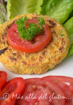 Más allá del gluten...: Hamburguesas de Garbanzo y Arroz Integral (Receta GFCFSF, Vegana)