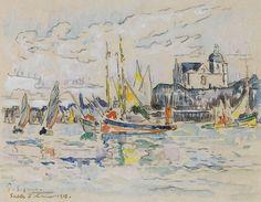 Paul Signac - View of the Port of Sables dOlonne, 1913. Картины с аукционов Sotheby `s