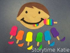 Flannel Friday: Popsicles! | storytime katie ice cream story time