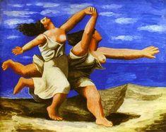 Dos mujeres corriendo en la playa, de Picasso (1922).